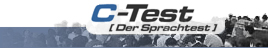 Logo: C-Test Der Sprachtest